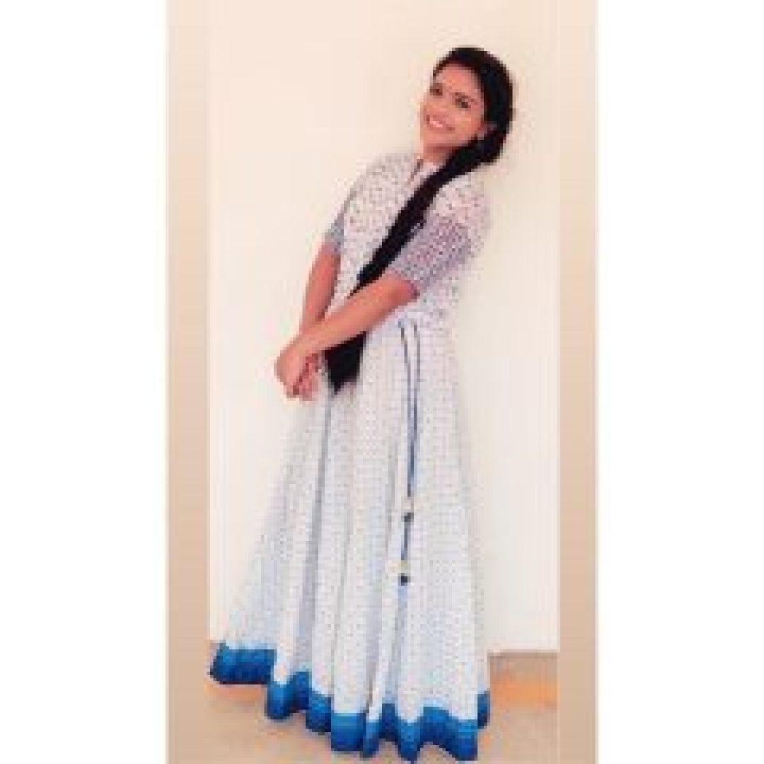 Shabana Shajahan in White chudi