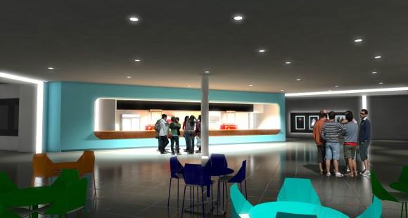Rendering Lobby Montehiedra Cinemas 1