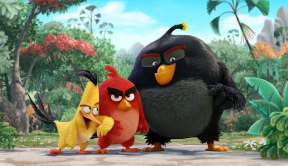 Chuck (Josh Gad), Red (Jason Sudeikis), Bomb (Danny McBride) in Columbia Pictures and Rovio's ANGRY BIRDS.