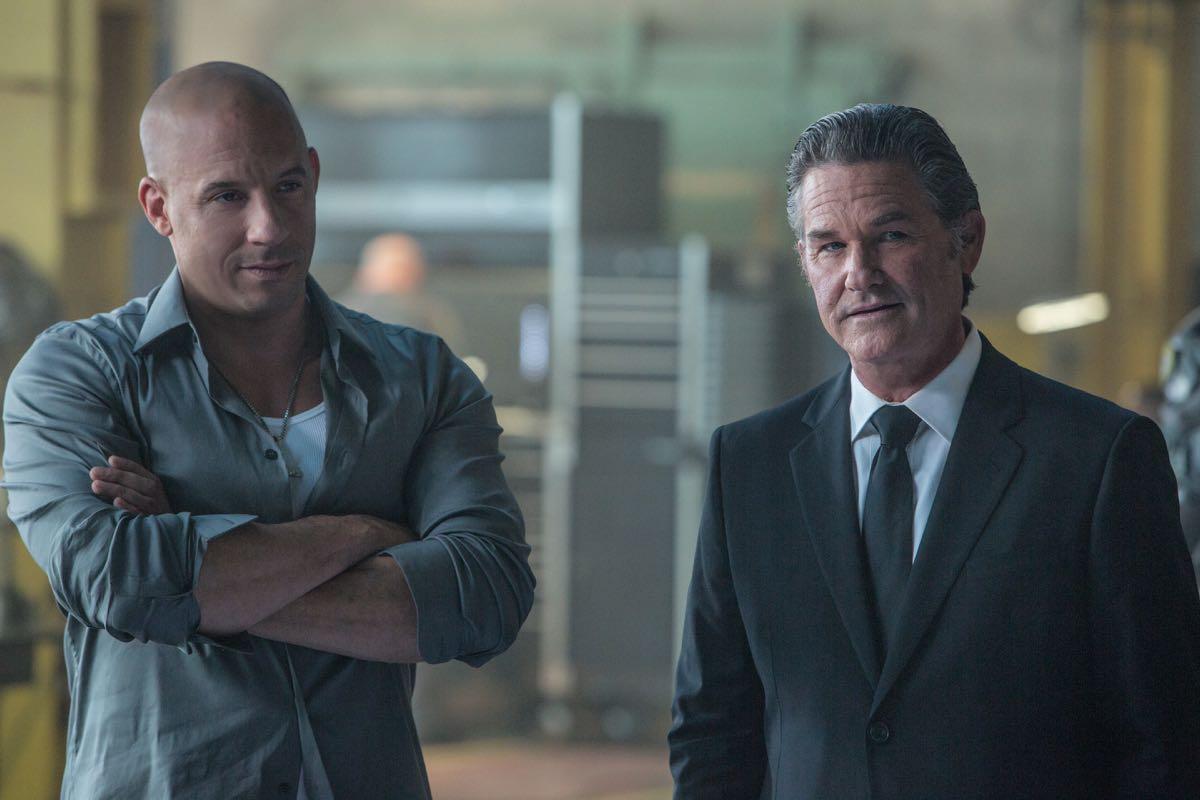 Vin Diesel y Kurt Russell en Fast & Furious 7