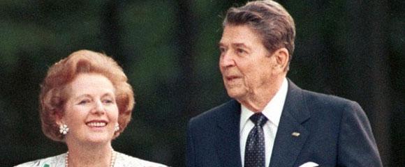 Ronald Reagan y Margaret Thatcher