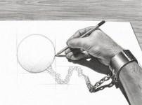 2. Henrik Moses nos propone una prueba… ¿pueden distinguir qué no es y qué sí es real en este dibujo?