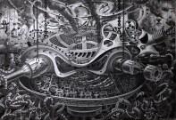 7. Samuel Gomez, un dibujo cargado de imaginación y muchas perspectivas, una de las mejores piezas del portafolio de este artista
