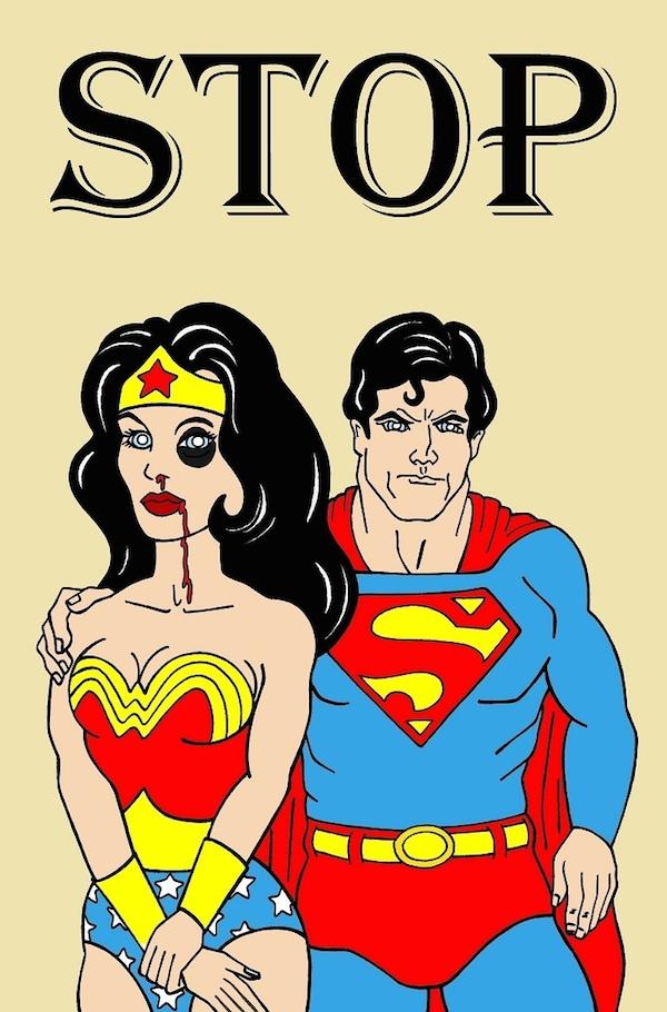 La mujer maravilla y Superman