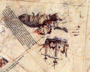 Dibujo de Piris Reis de San Borondón