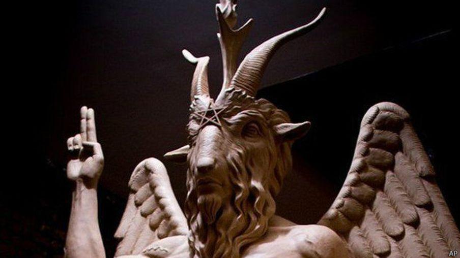 Escultura del diablo en Detroit