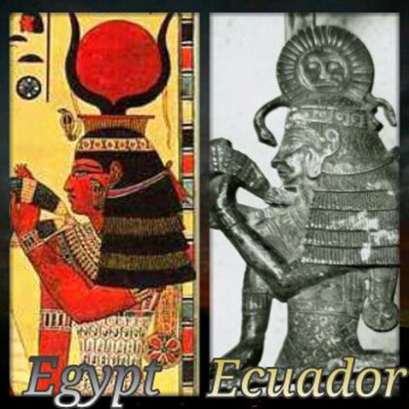 La diosa Isis de Egipto en Ecuador