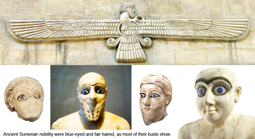 Momias de ojos azules de Sumeria
