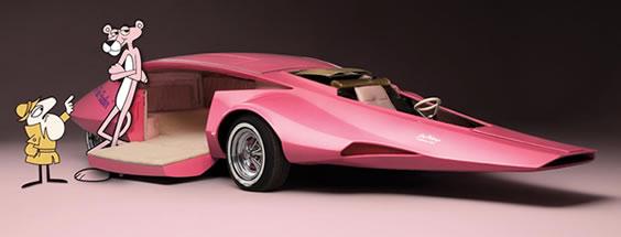El carro de la Pantera Rosa