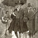 Ilustración de Jonás Hanway y la sombrilla