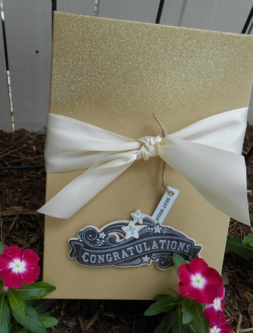 box for guests to add a sentiment for the couple to open on first anniversary