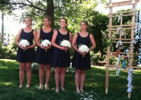 (R to L) matron of honor elyse, bridesmaids liz, brooke, megan