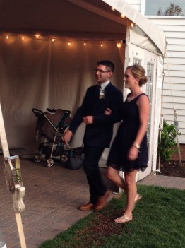 bridesmaid liz and groomsman matt