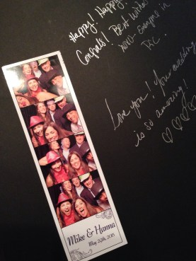 hanna and mike had a photo booth at the reception - yup, it was fun!