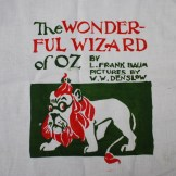 The Wonderful Wizard of Oz, freezer paper stencil