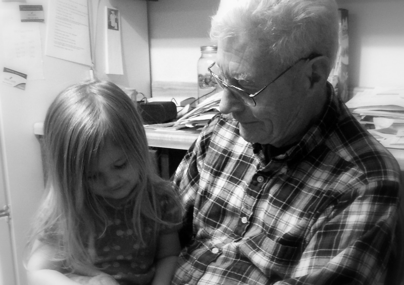 """Petra with """"Mr. Dick,"""" Linda N.'s father, who was in the process of moving to Michigan when I was there in 2012."""