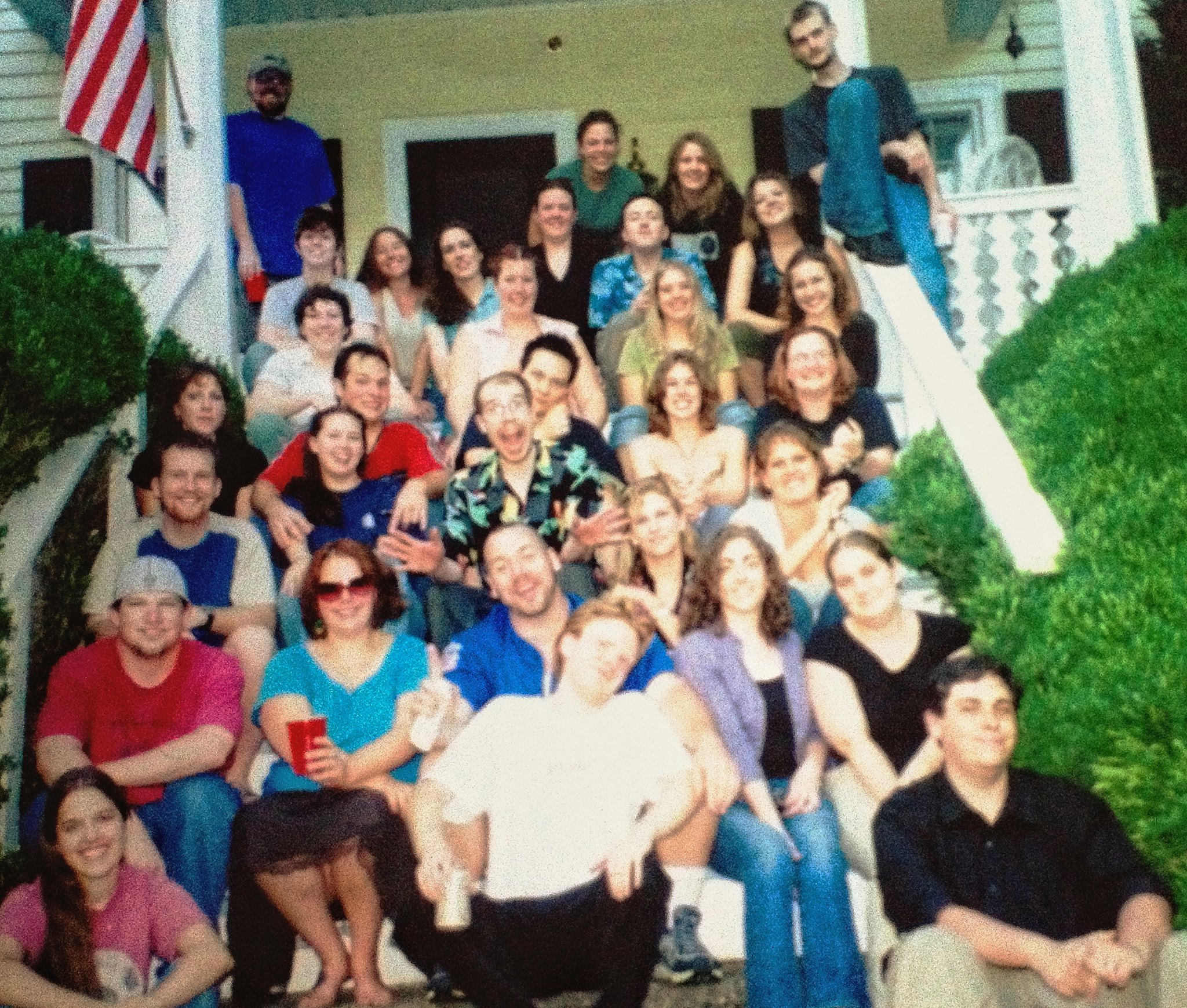 Some, but not all, of the people in this story were at this party in August of 2005.