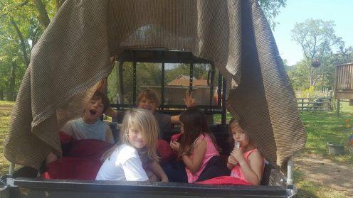 A ride in the farm truck