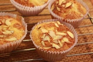 Orange Almond Eggless Cupcakes
