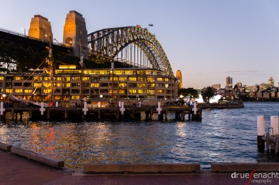 Sydney harbour bridge, the Hyatt, and in front is our tall ship