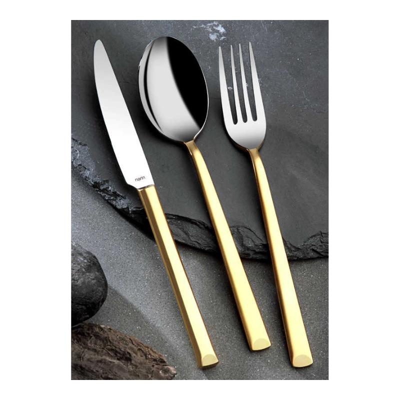 Antares Mat-Altın Çatal Kaşık Bıçak