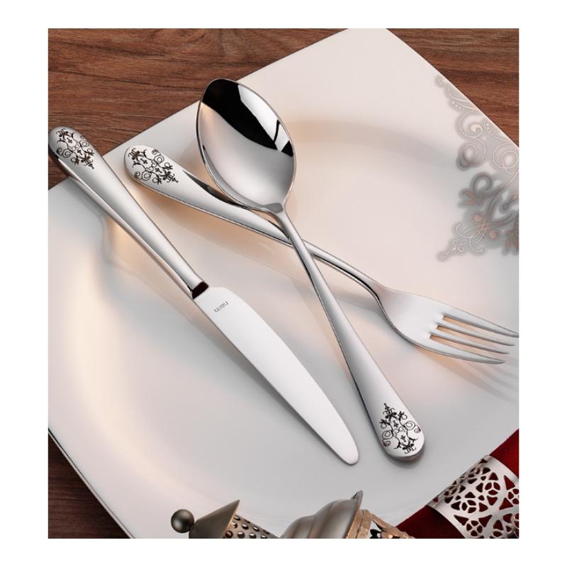 Epsilon Mat-Desenli Çatal Kaşık Bıçak