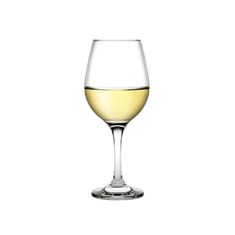 440255 Amber Beyaz şarap kadehi