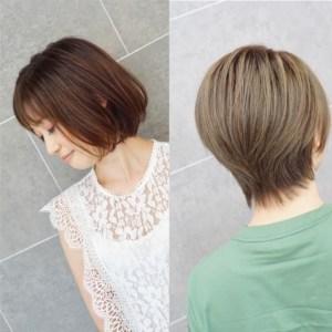 二枚のヘアスタイルが並んでいる写真