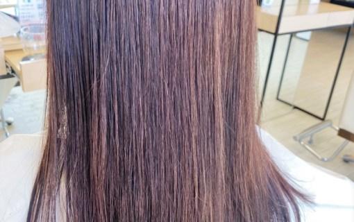 髪質改善された縮毛矯正ヘアスタイル