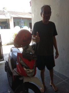 rental motor honda beat