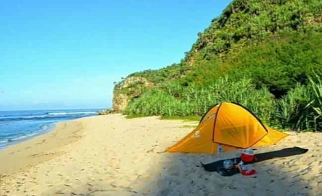 camping di pantai jungwok gunung kidul