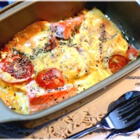 Baked Cheesy Salmon with Rosemary and Oregano