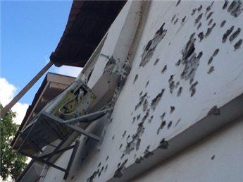 18 July Israel - Gan Jephunneh damage. Ma'an