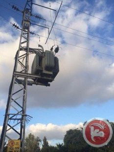 18 July - Israel - transformer damaged. Ma' an