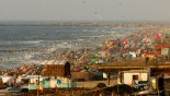 Busy beach of Gaza