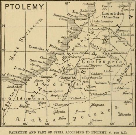100 AD Map of Palestine