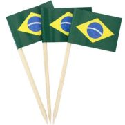 Comidas do Brasil para a Copa do Mundo: bandeirinha do Brasil para decorar sanduíches