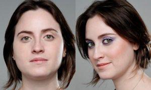 Antes e depois: maquiagem para pele muito branca e olhos verdes