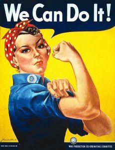 "Cartaz ""We Can Do It"", de J. Howard Miller, que virou símbolo feminista"