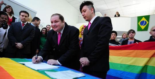 Primeiro casamento civil gay do Brasil