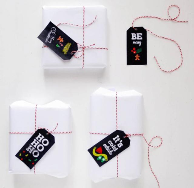 Etiquetas para presente de Natal com tema natalino para imprimir do site Funky Time.