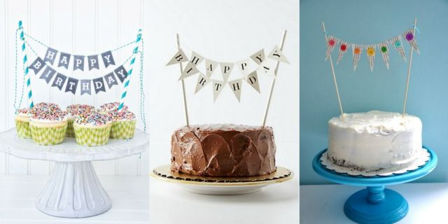 How to make beautiful and easy to make DIY banner garland cake toppers