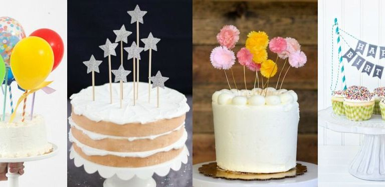 Beautiful and easy to make DIY cake toppers