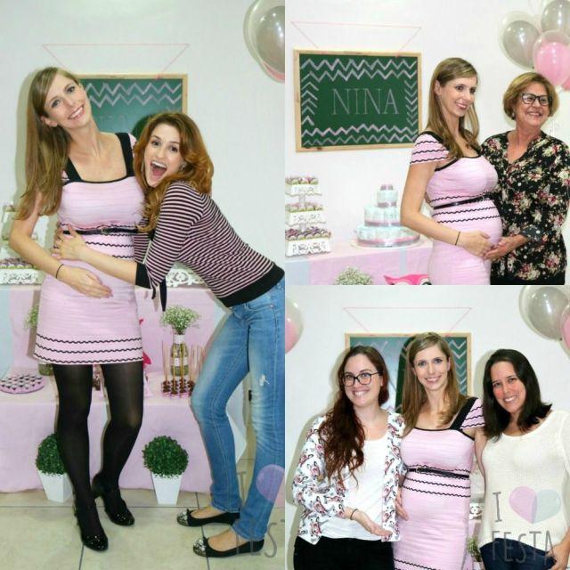 Inspirações para chá de bebê rosa e cinza. Créditos: I Love Festa.