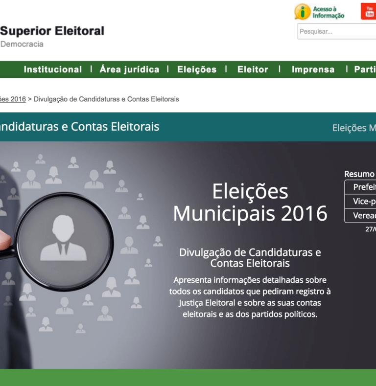 Lista de candidatos a vereador nas eleições 2016