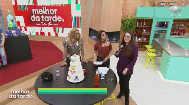 Bolos decorados no programa Melhor da Tarde da Band. Participação de Cíntia Costa do Cake Studio.