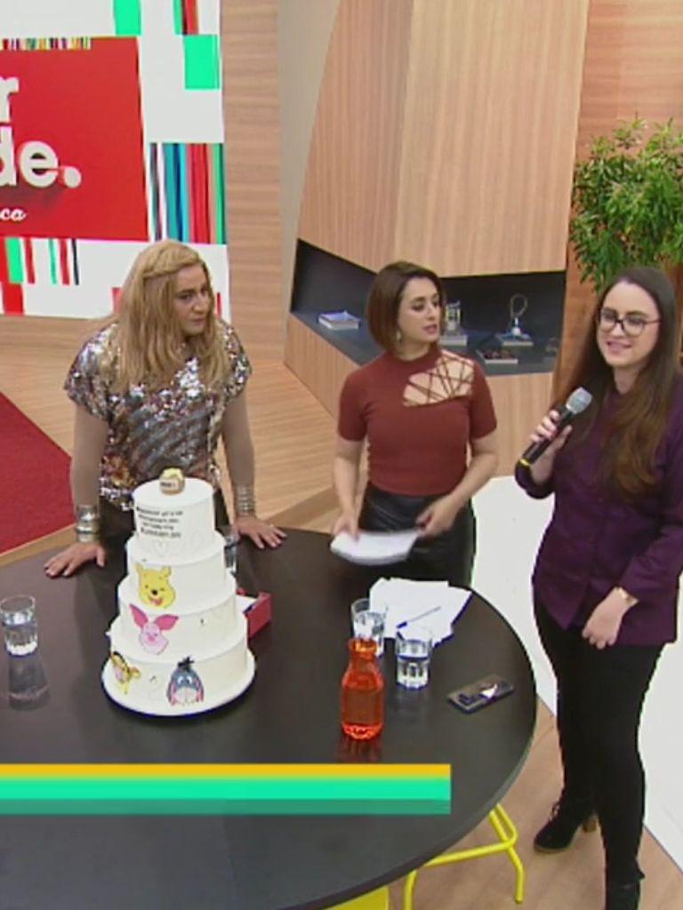 Cake Studio leva bolo no prograna Melhor da Tarde na Band