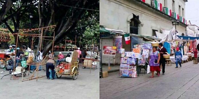 Fracaso institucional: ambulantes regresan al Zócalo de Oaxaca - CIO