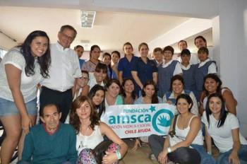 Fundación Amsca en hogar Cordillera (Fuente: twitter.com)