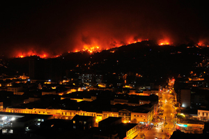 Mega incendio en Valparaíso, 2014.